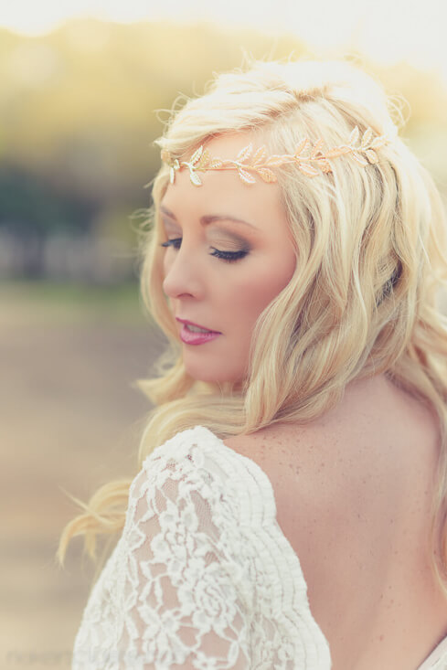 Sunligh on bride hair