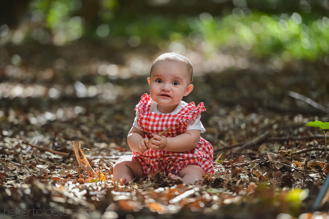 Baby on leafs