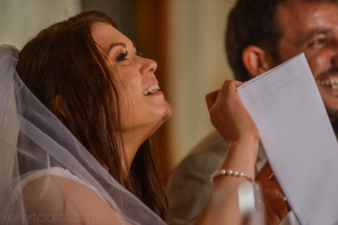 Bride tear