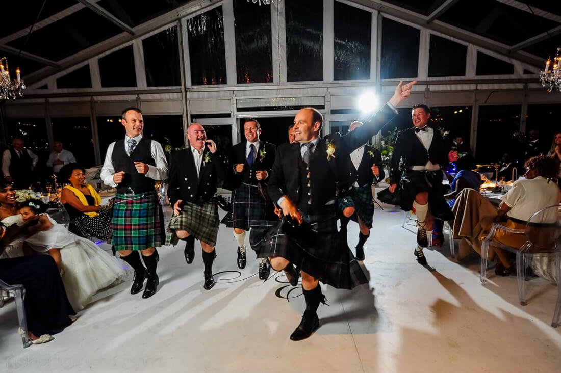 Scottish wedding celebrations