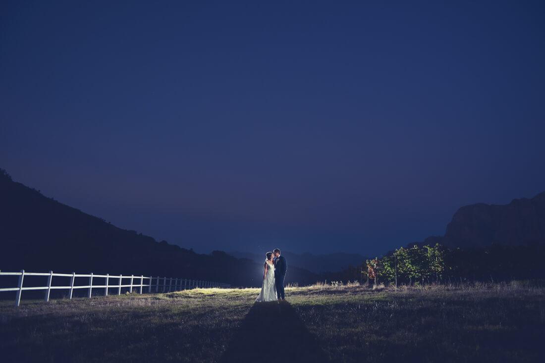 Zorgvliet night wedding Night shot