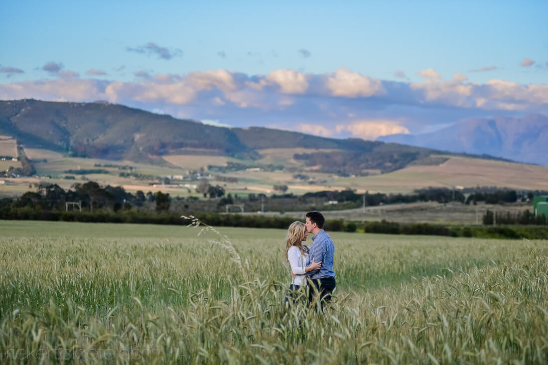 Stellenbosch Engagement shoot in Field