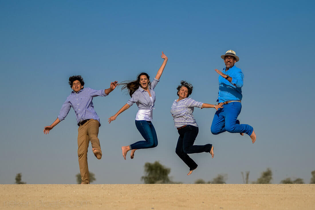 Dubai family jumping
