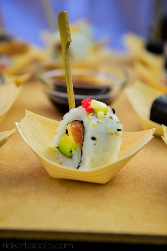 Sushi on bamboo