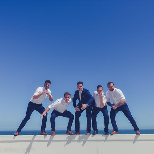 Groomsmen being silly