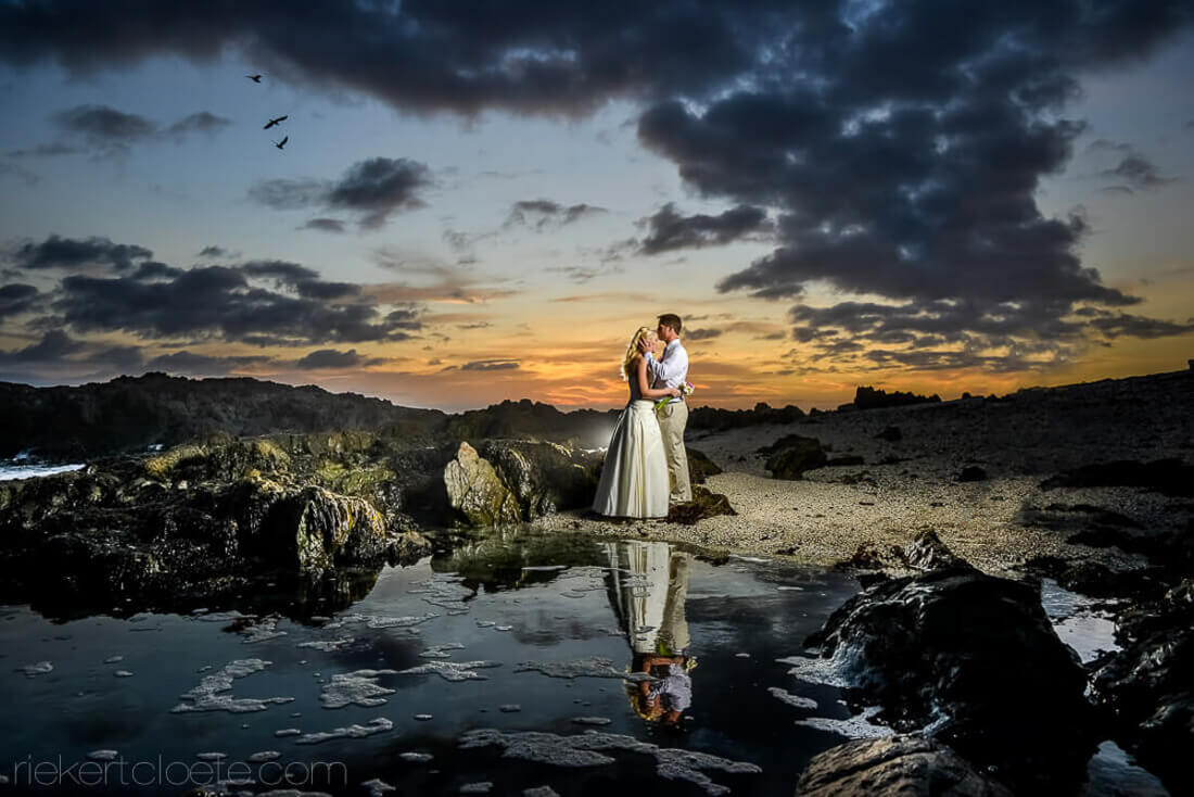 Amazing Sunset wedding photo