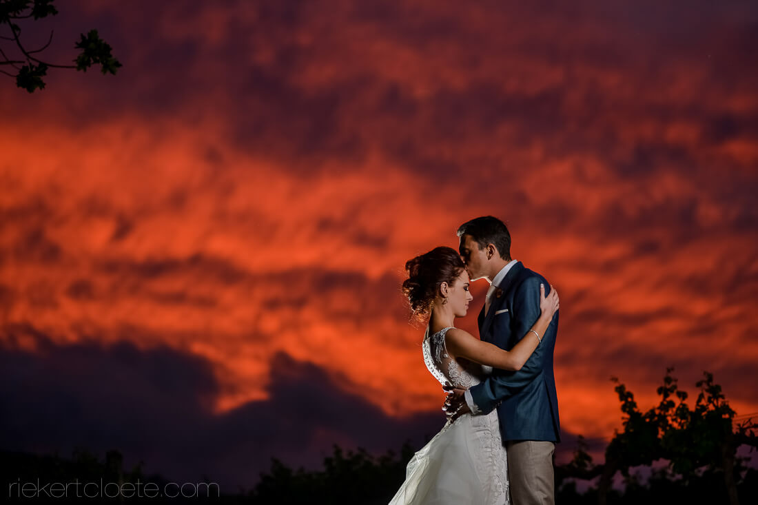 Vrede and Lust special sunset wedding photo