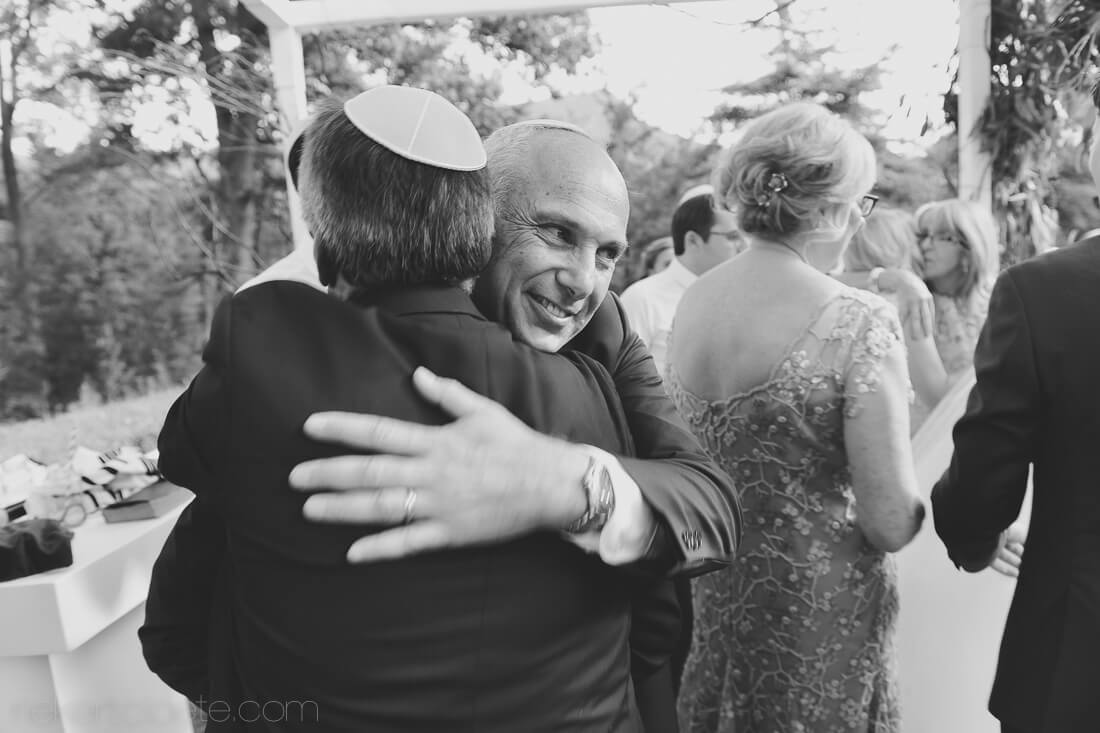 Jewish wedding molenvliet dad with groom