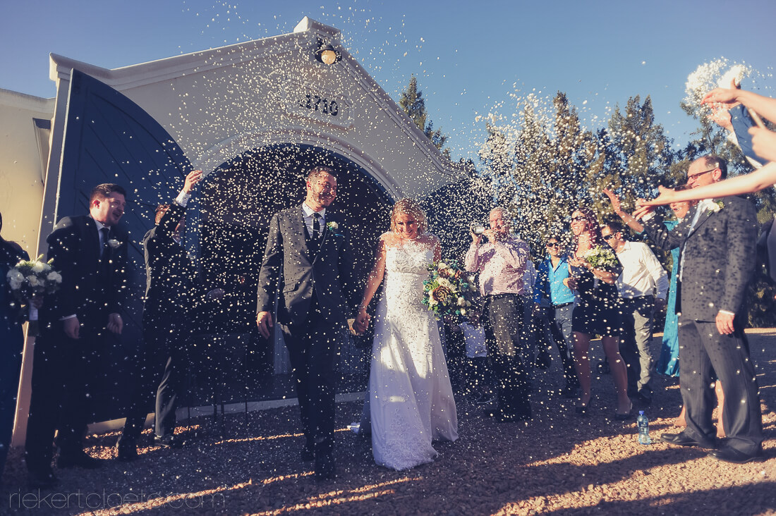 Confetti Rains on Couple