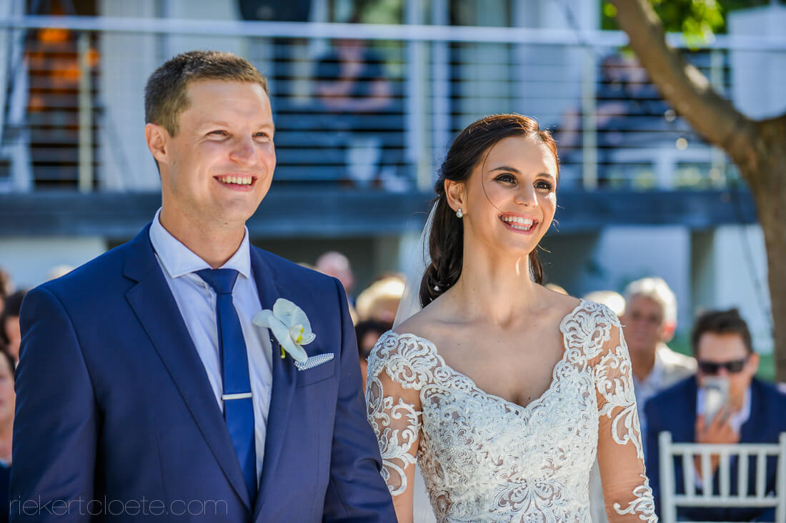 Couple in Ceremony smiling