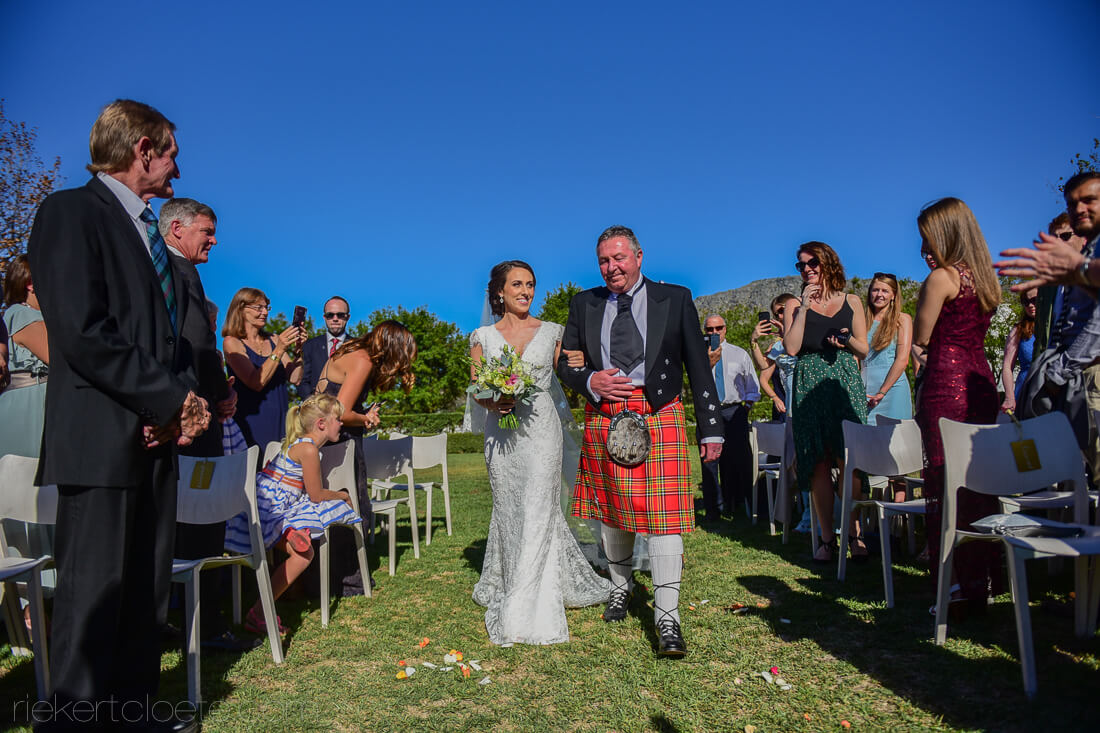 Scottish wedding in Cape Town