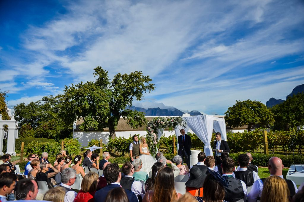Sunny ceremony outside