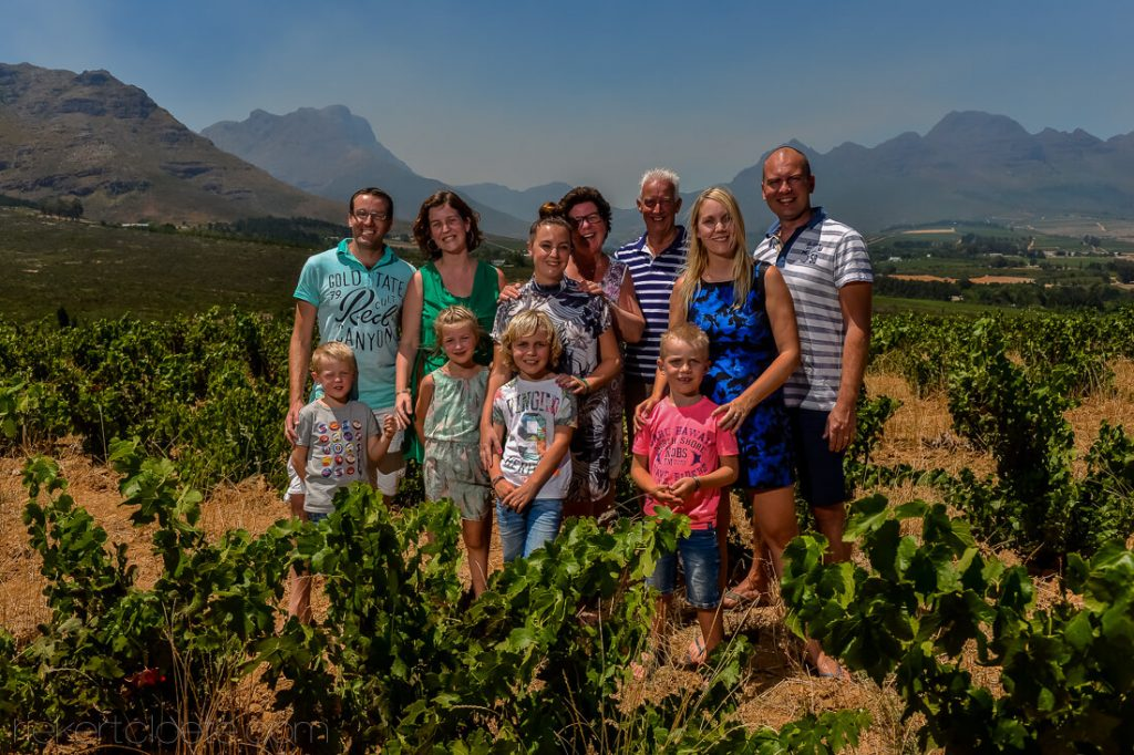 Family group photo in Vineyard