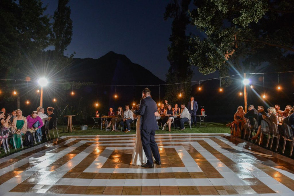 Couple dancing under the stars