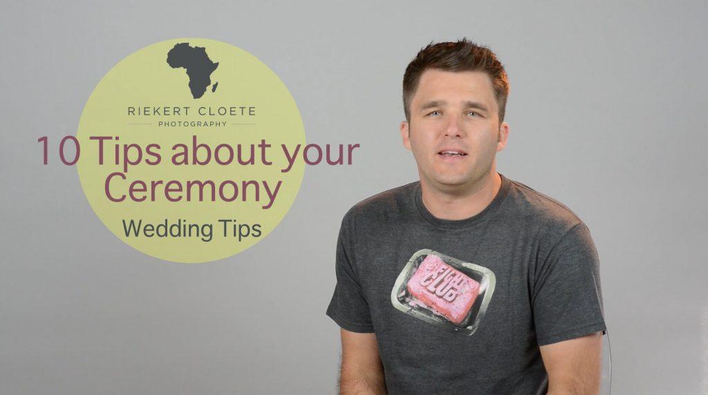 Wedding tips Ceremony