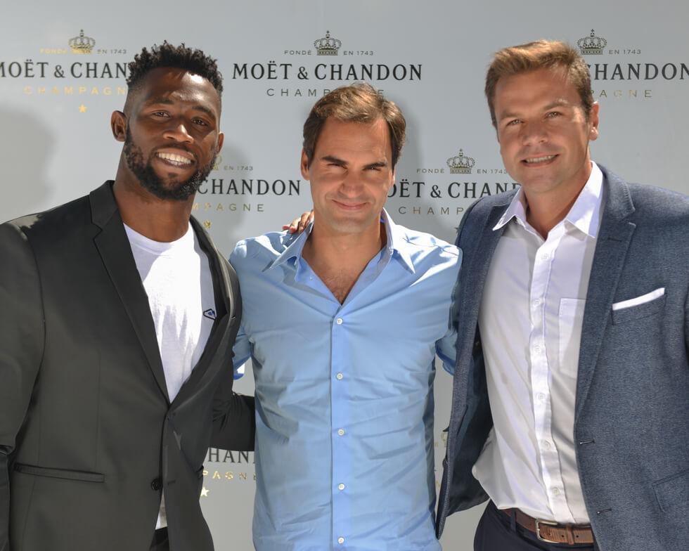 Roger Federer Siya Kolisi and Tyk Neethling
