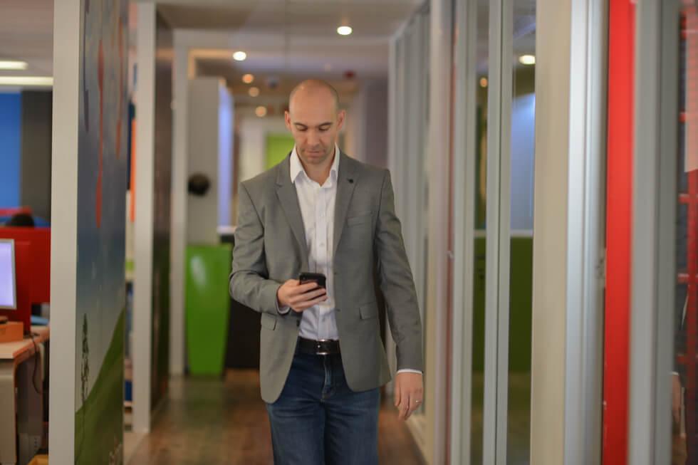 CEO walking