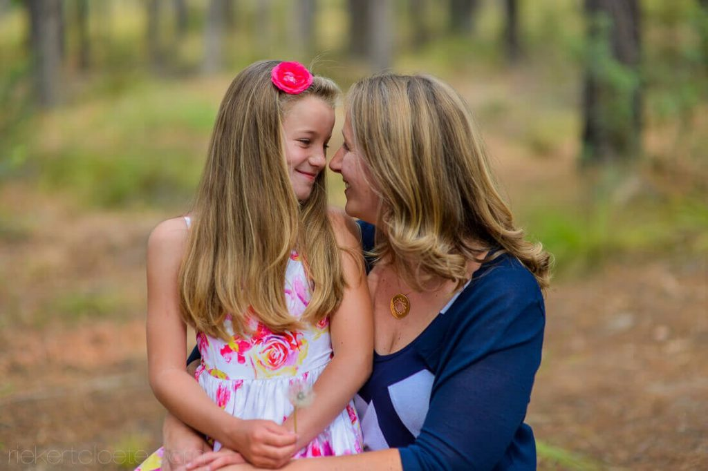 Mom and Daughter close